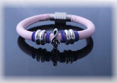 baby pink music bracelet