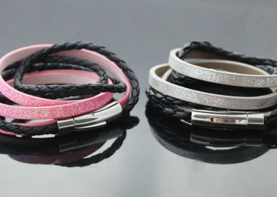 wrap around bracelets together